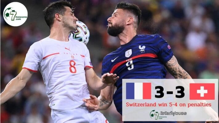 Highlight Euro 2020 France - Switzerland 28-06-2021