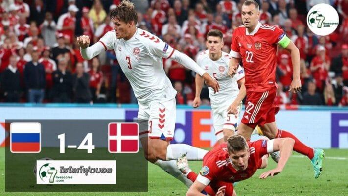 Highlight Euro 2020 Russia - Denmark 21-06-2021
