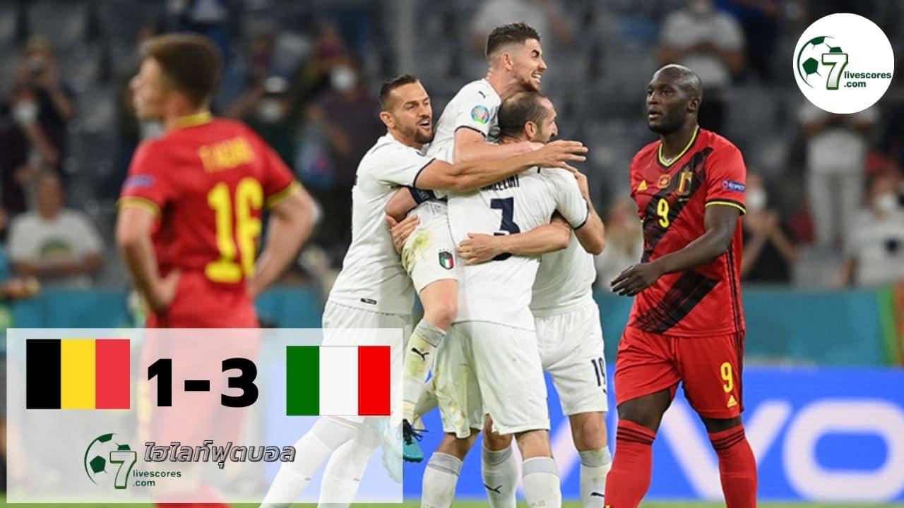Highlight Euro 2020 Belgium - Italy 02-07-2021