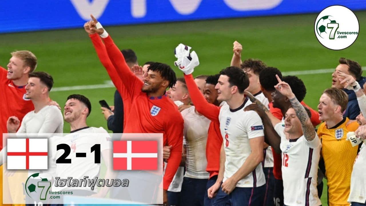 Highlight Euro 2020 England - Denmark 07-07-2021