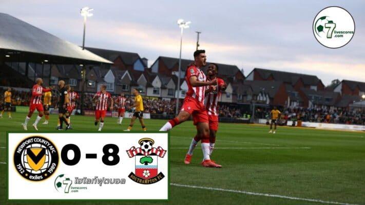 Highlight Carabao Cup Newport County - Southampton 25-08-2021