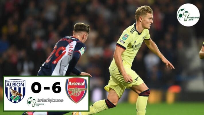 Highlight Carabao Cup West Bromwich Albion - Arsenal 25-08-2021