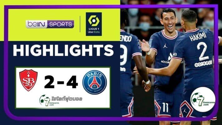 Highlight Ligue 1 Paris Saint-Germain - Brest 20_08_2021