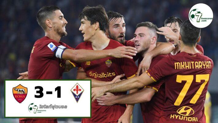 Highlight Serie A Roma - Fiorentina 22-08-2021
