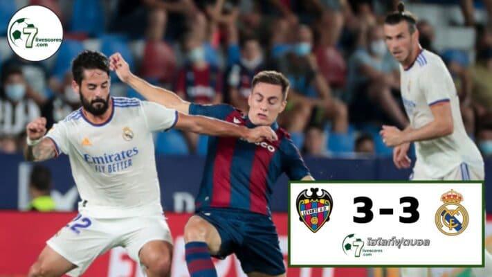 Highlight Spanish La Liga Levante UD - Real Madrid 22-08-2021