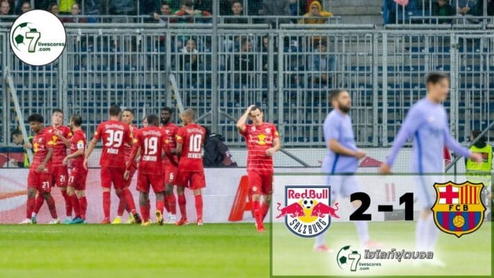 Highlight football Red Bull Salzburg - Barcelona 04-08-2021