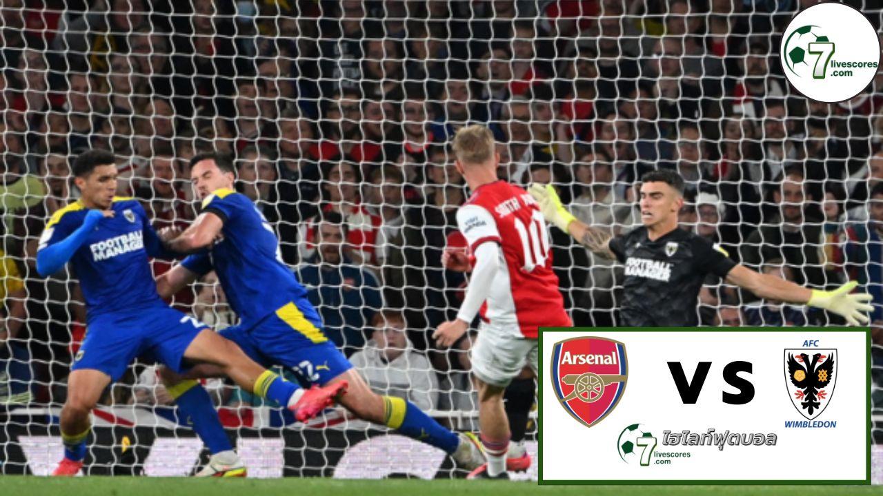 Highlights EFL CUP Arsenal - AFC Wimbledon 22-09-2021