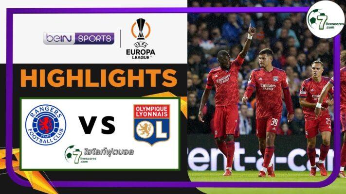 Highlights Europa League Reangers - Lyon 16-09-2021