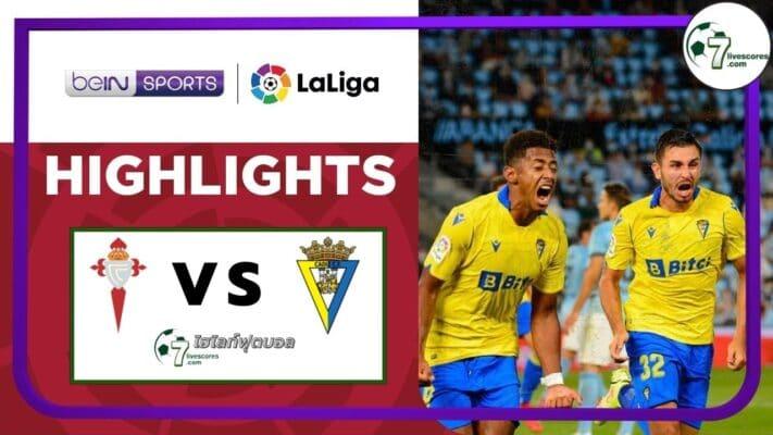 Highlights Spanish La Liga Celta Vigo - Cadiz 17-09-2021