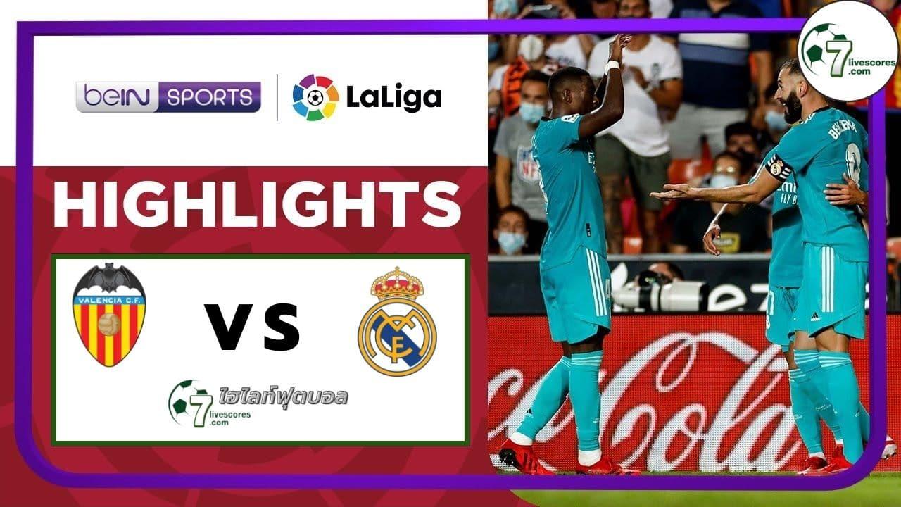 Highlights Spanish La Liga Valencia - Real Madrid 19-09-2021
