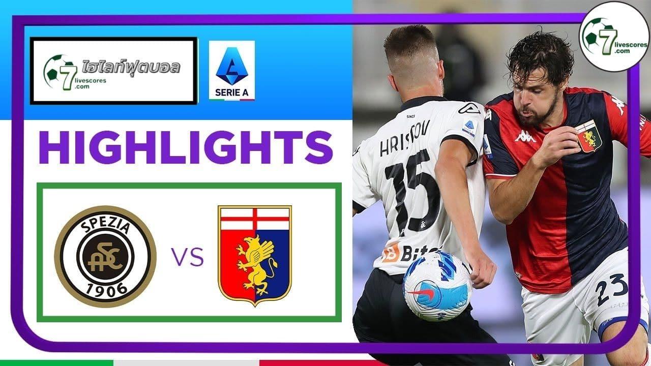 Highlights Italian Serie A Spezia - Genoa 26-10-2021