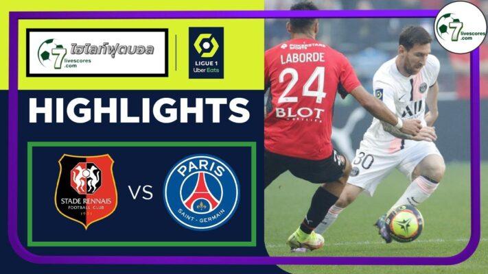 Highlights Ligue 1 Rennes - Paris St-Germain 03-10-2021