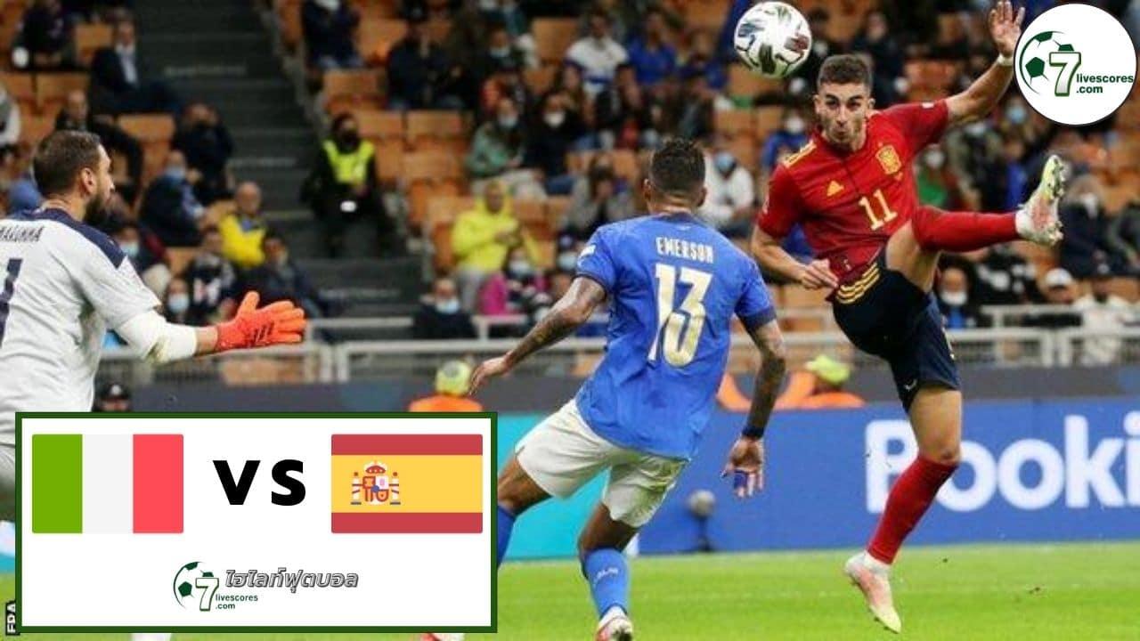 Highlights UEFA Nations League Italy - Spain 06-10-2021