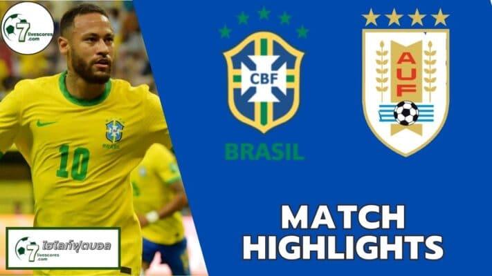 Highlights World Cup South America Zone Brazil - Uruguay 14-10-2021
